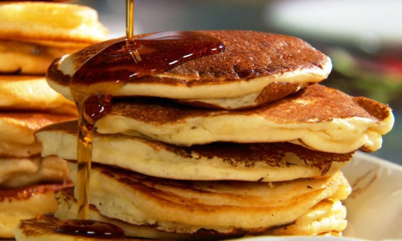 image of pancake stack with syrup